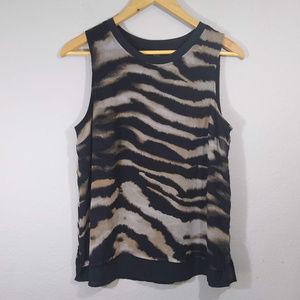 Chiffon Layered Tiger Print Dressy Tank